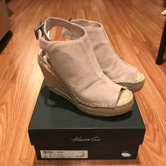 f6a37cd5eb Kenneth Cole Shoes | Olivia Espadrille Wedge Sandal | Poshmark